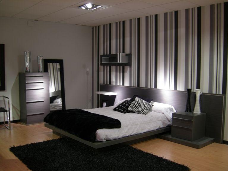 Me gusta que una de las paredes de la habitación sea así de rayas - sillones para habitaciones