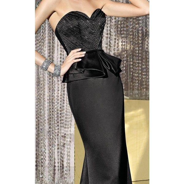 Alyce 29673 Formal Gown Long Strapless Sleeveless ($398) ❤ liked on Polyvore featuring dresses, gowns, formal dresses, red, long evening gowns, red evening dresses, red carpet dresses, red carpet gowns and long formal gowns