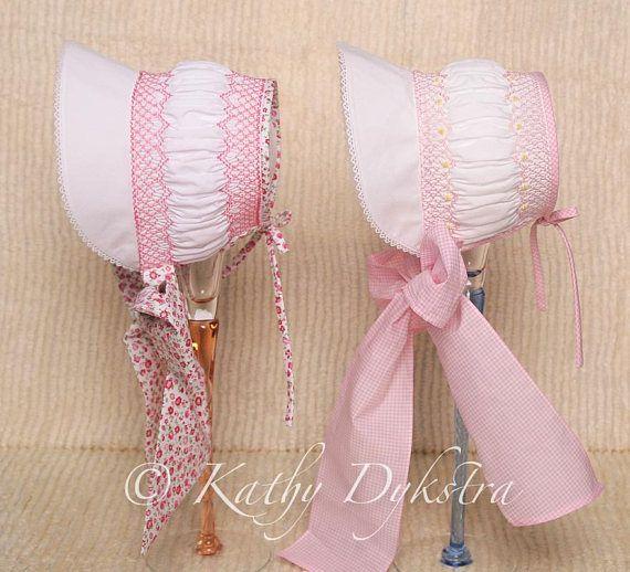 Bella\'s Vintage Smocked Bonnet Preemie 3t | one day projects | Pinterest