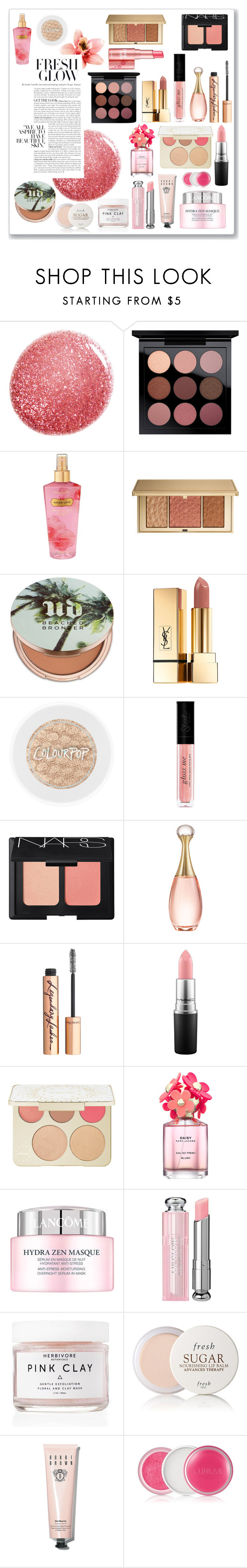 """""""Sweet Pinkish"""" by missamiera ❤ liked on Polyvore featuring beauty, NARS Cosmetics, MAC Cosmetics, Victoria's Secret, Estée Lauder, Urban Decay, Yves Saint Laurent, Christian Dior, Charlotte Tilbury and Becca"""