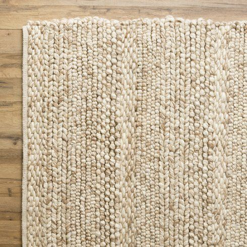 Othello Handwoven Wool Cream Rug Natural Rug Area Rugs Beige Area Rugs