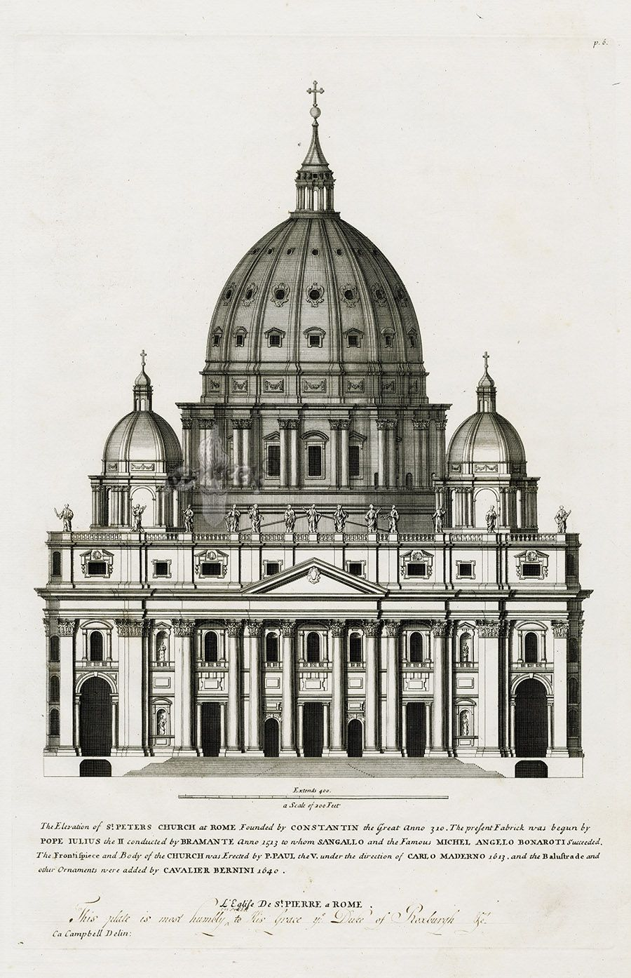 Elevation Church Plan A Visit : The elevation st peter s church at rome with separate