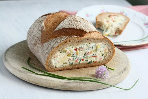 Ricotta and Chive Filled Rye Loaf