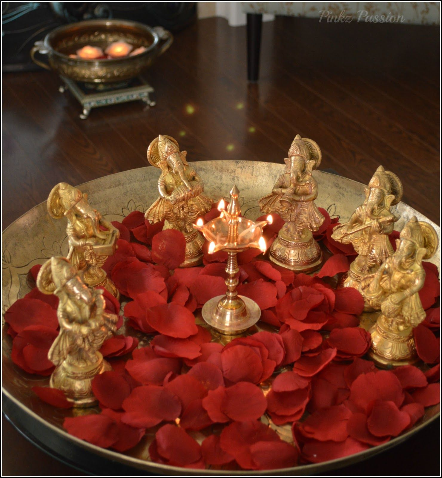 Diwali Decoration Ideas Homes Pinkz Passion Passion Of Collection Brass