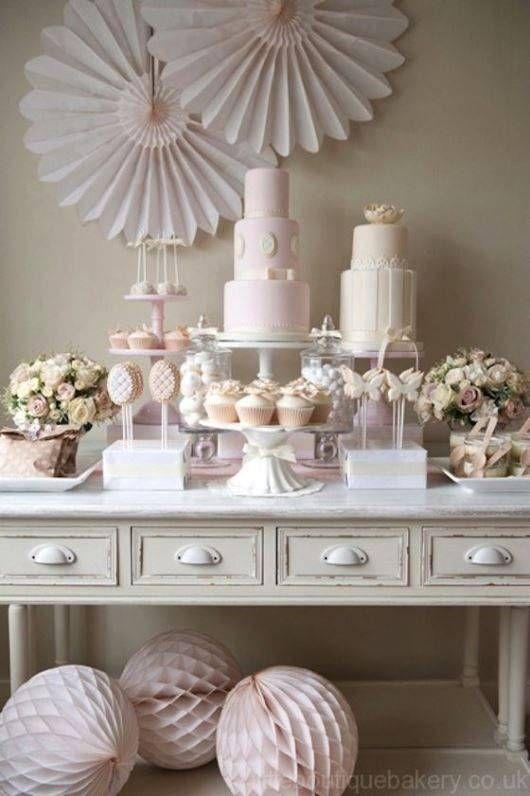 Adornos de mesa para primera comunion hechos en casa - Decoracion comunion en casa ...