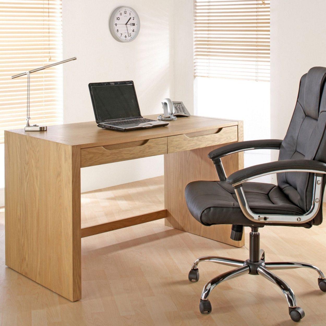 Alphason Oak Finished 'Butler' Desk