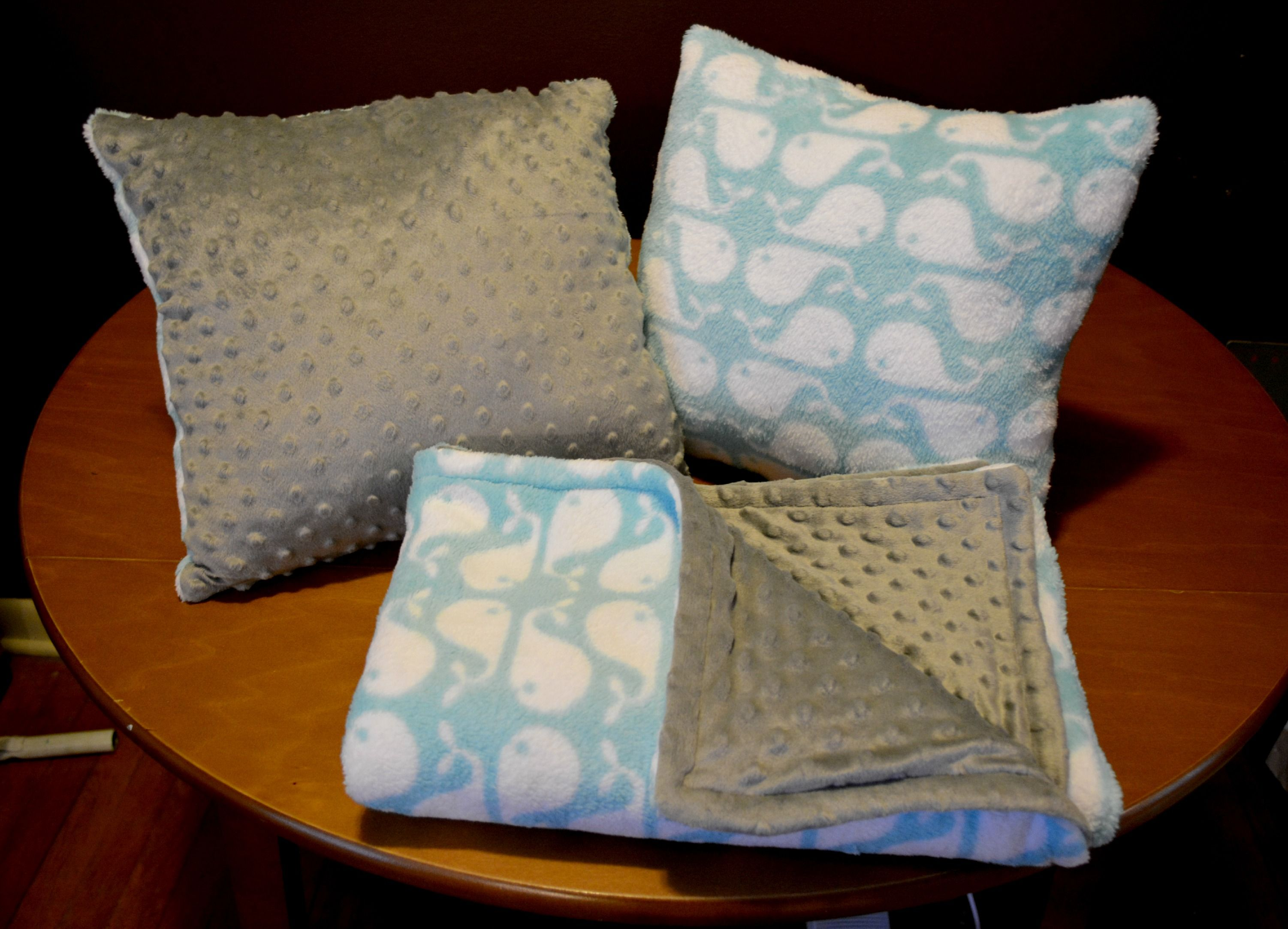 www.facebook.com/chandlersstitchhappy  baby blanket/pillow set $40