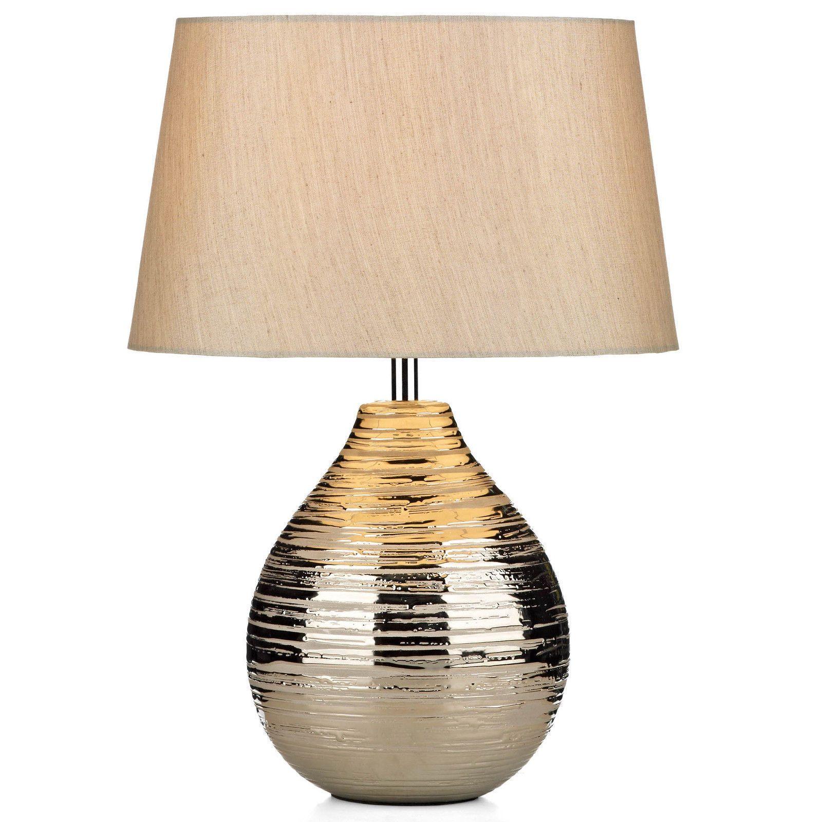 Gustav Table Bedside Lamp Silver Ceramic Base Cream Shade Ebay Small Table Lamp Table Lamp Gold Table Lamp