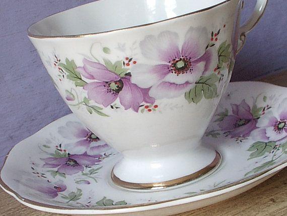 Vintage Royal Standard violet purple flower tea by ShoponSherman, $39.00