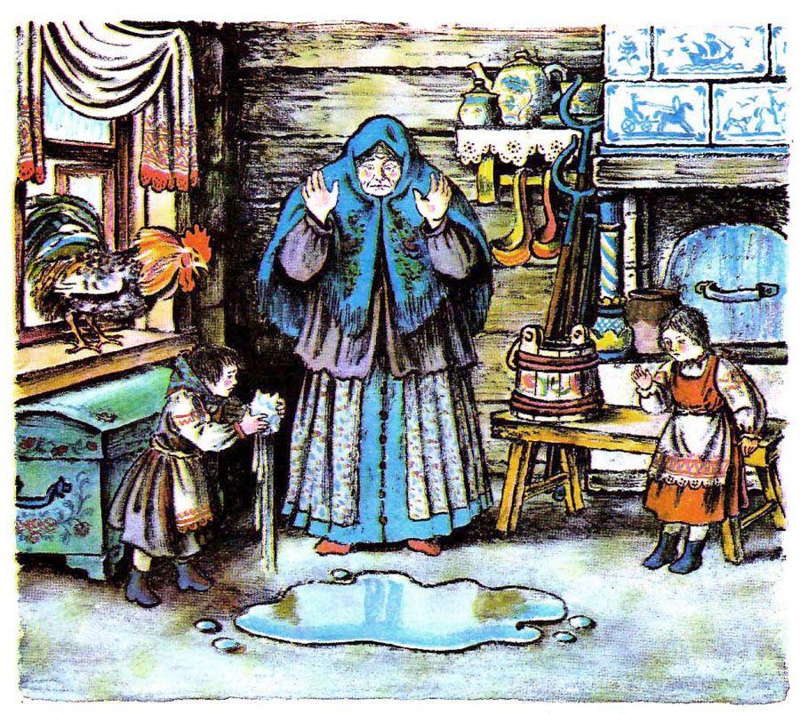 Объемная открытка, план в картинках к сказке мороз иванович