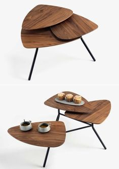 klybeck 63 Modular Coffee Table Opens Up Like a Flower