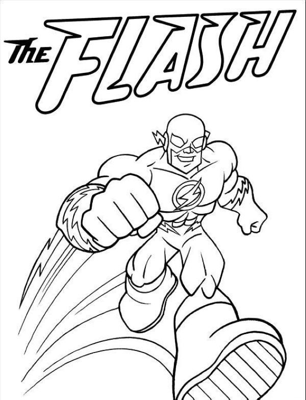 The Flash Coloring Pages Collection | Superhero coloring ...
