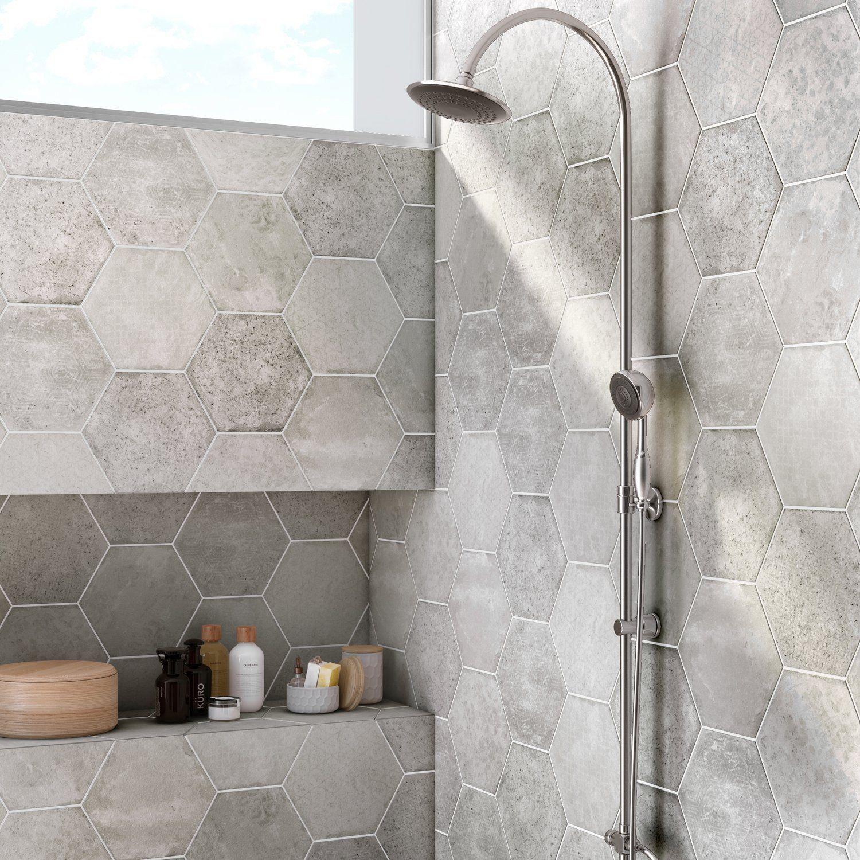 Le gris pour du carrelage hexagonal en 2019   Salle de bain ...