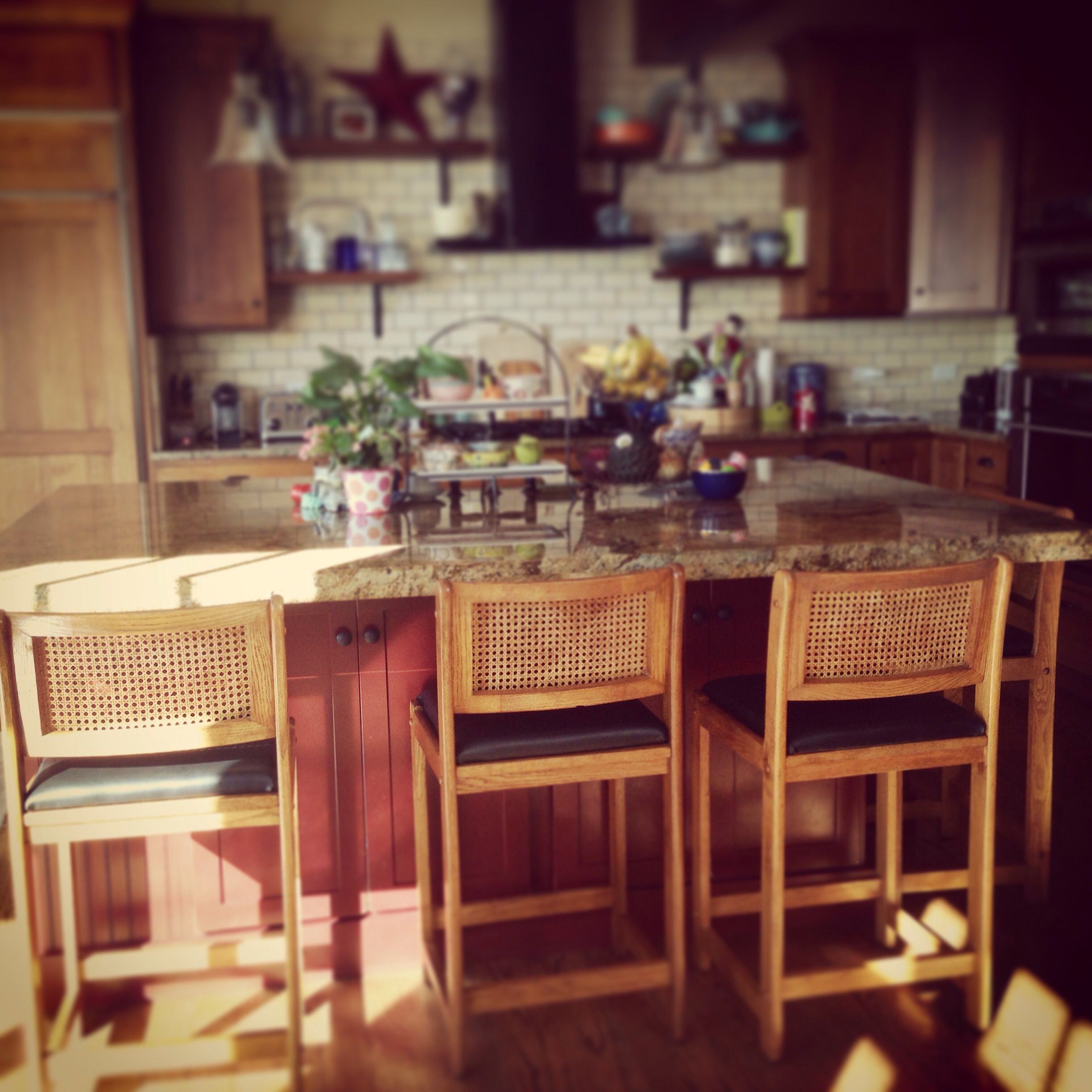 #bunnypimpedmykitchen with these amazing vintage stools!  @camp1899 is #solidgold!!!