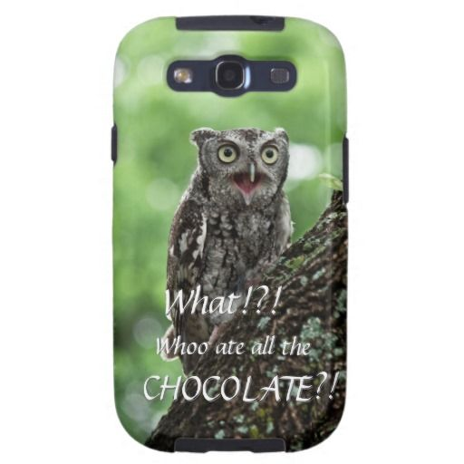 Upset Owl photo Galaxy S III case Galaxy SIII Case   A portion of the sale of this case is donated to Blackland Prairie Raptor Center in support of their mission.