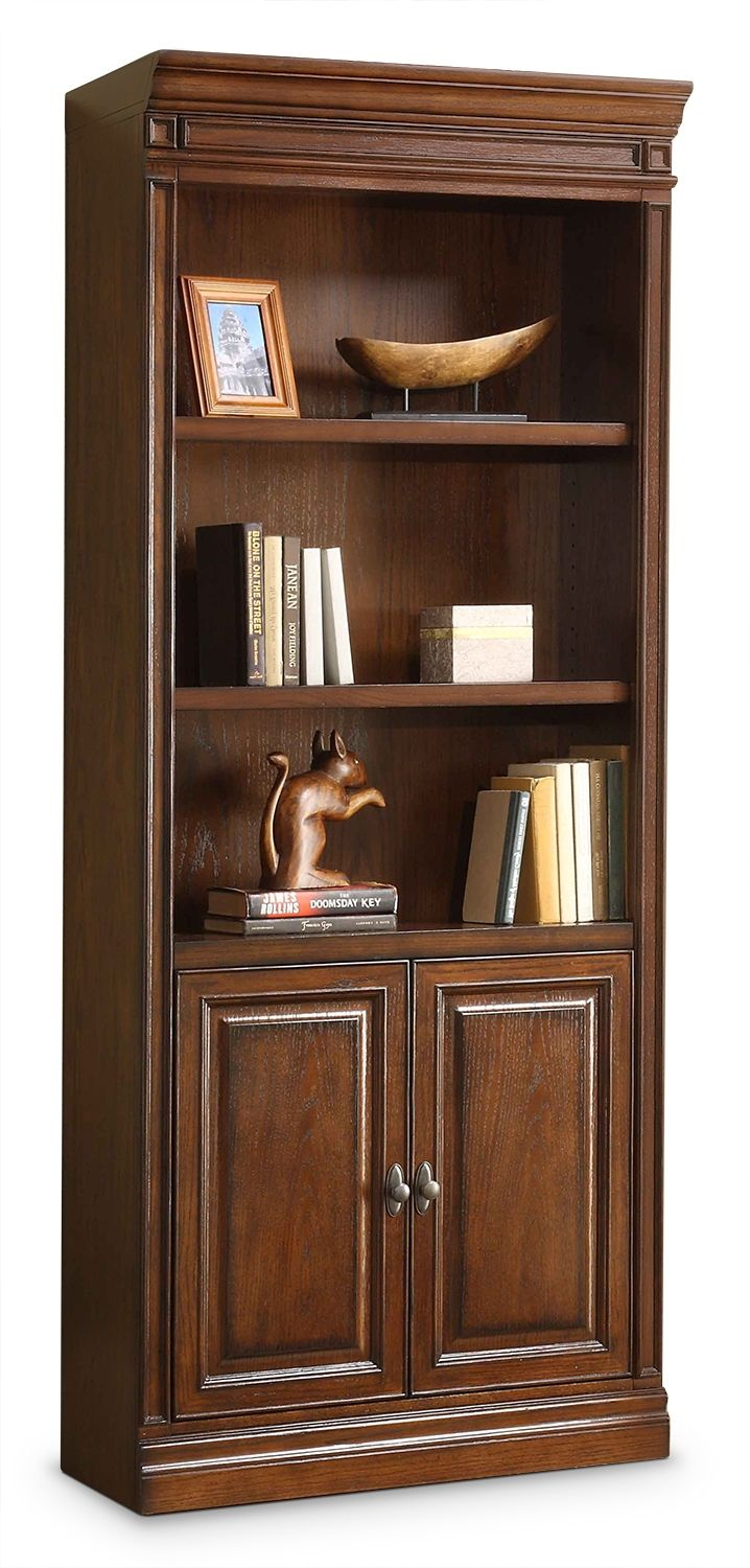 office bookcases with doors. Home Office Furniture - Johanne Bookcase W/ Doors Chocolate Oak Bookcases With