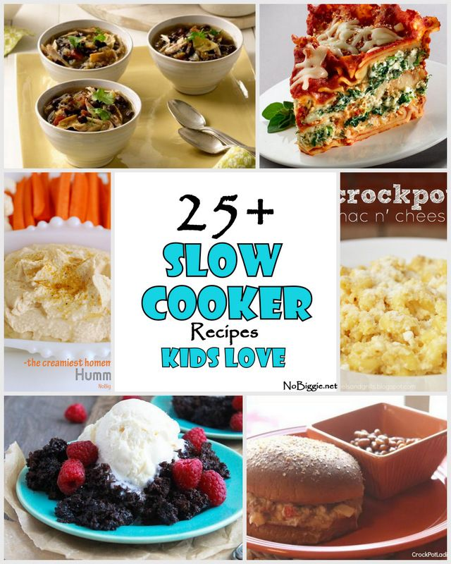25+ Slow Cooker Recipes Kids Love
