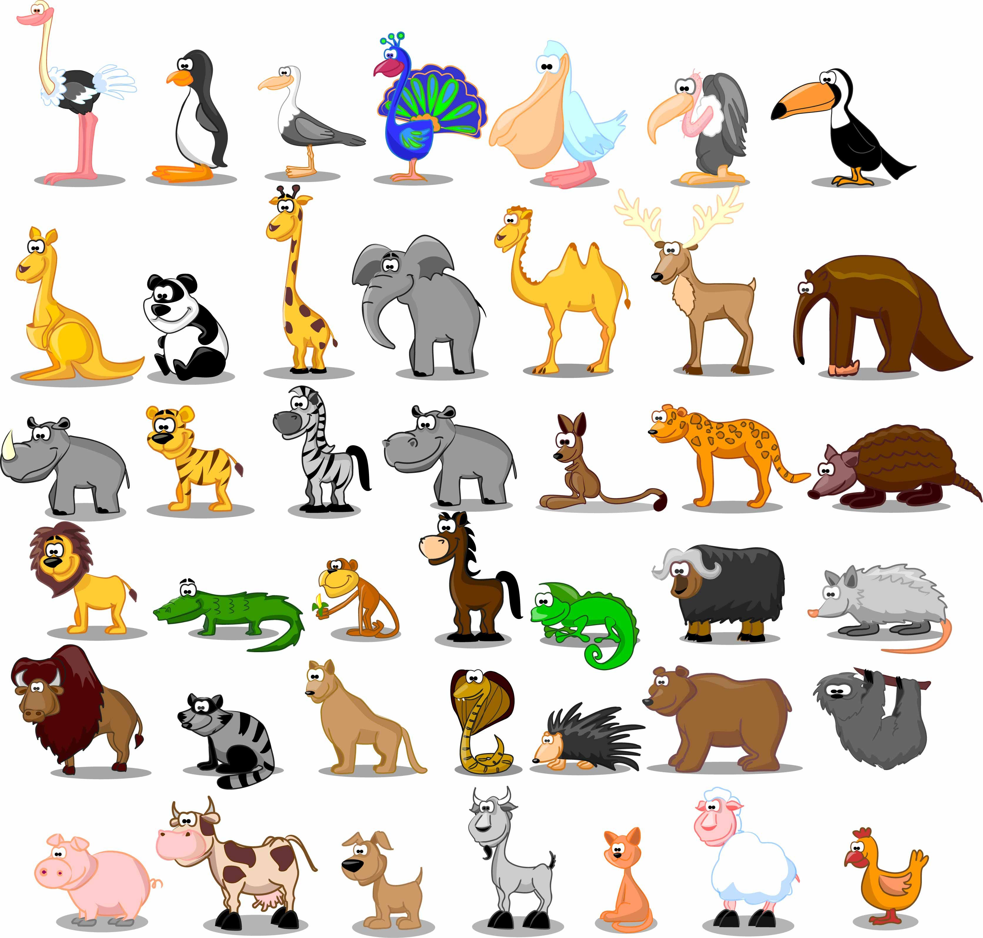 Image result for cartoon animal images clip art Animals