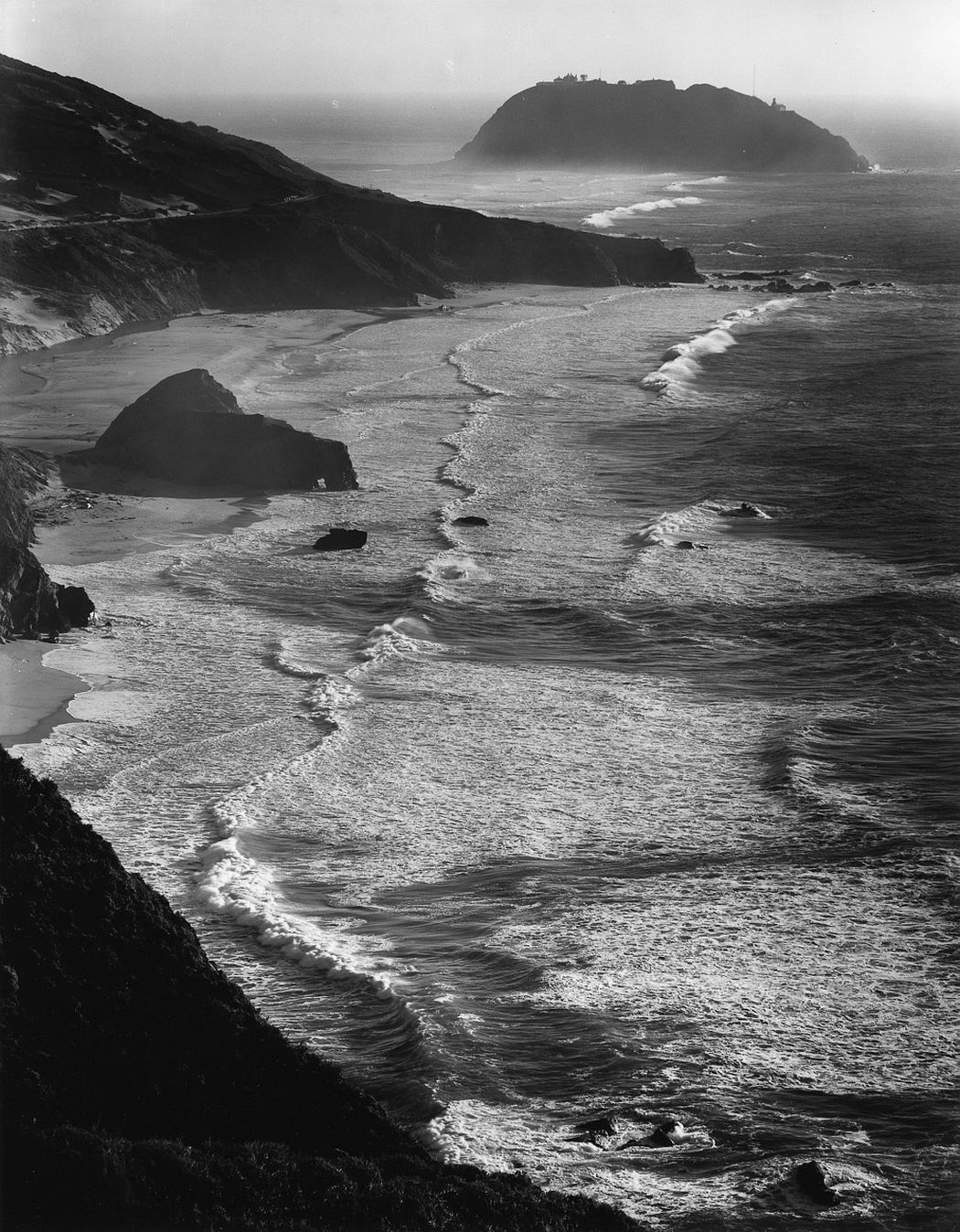 Ansel adams 46 ca point sur big sur variations black and white
