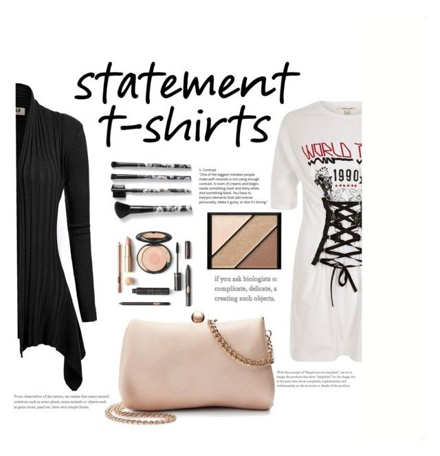 """Statement T-shirt"" by deni-araujo2515 ❤ liked on Polyvore featuring LC Lauren Conrad, River Island, Elizabeth Arden and Torrid"