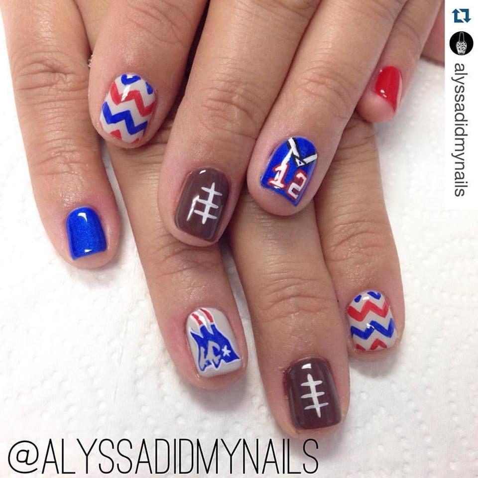 New England Patriots Nails | Nails | Pinterest | Makeup