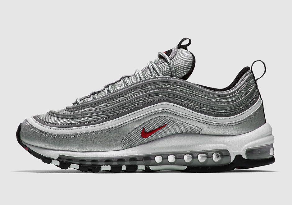 Nike Air Max 97 OG QS 884421 001 Silver | Nike air, Sneakers