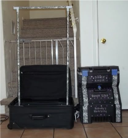 How To Make Your Own Rolling Bag With Rack Dance Comp Dance Diy