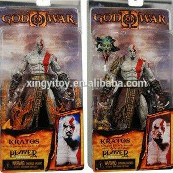 """NECA God of War Kratos in Golden Fleece Armor with Medusa Head 12/"""" Figure"""