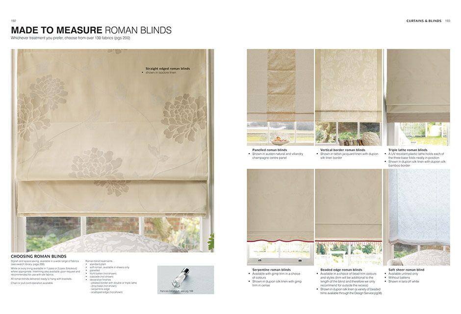 Laura Ashley curtains & blinds = Roman blinds