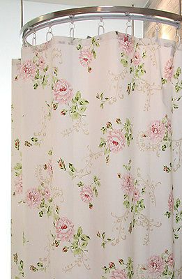 Charming Pink Garden Rose Shower Curtain Style A