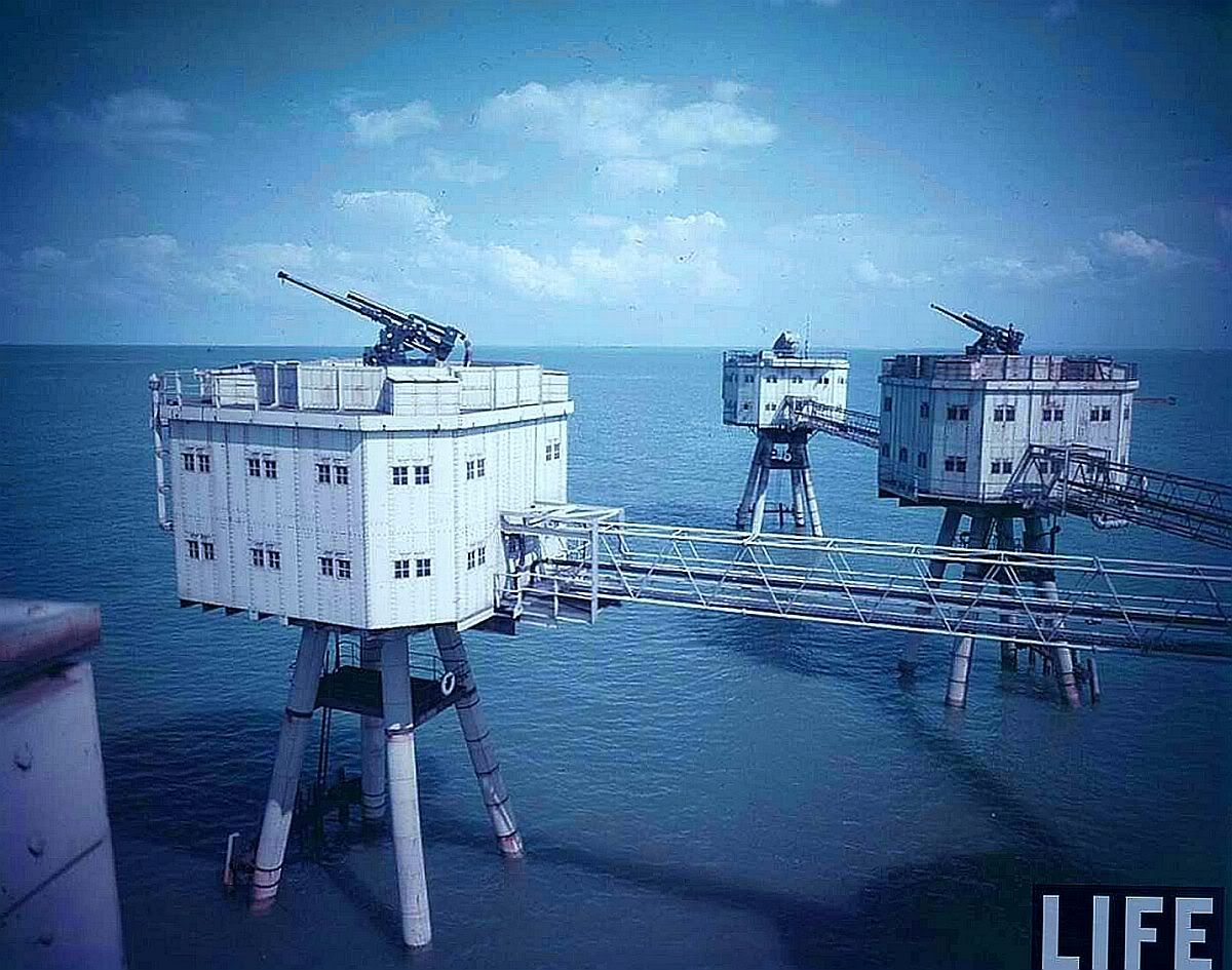 maunsell forts abandoned places
