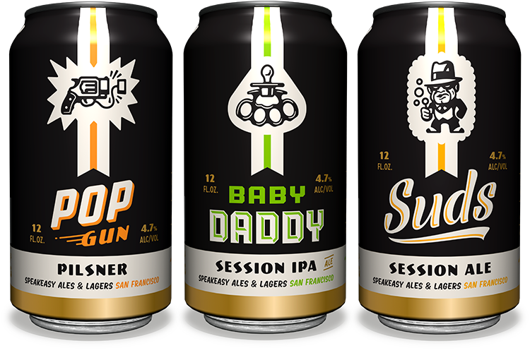Speakeasy Session 47 Series Beers - design by Emrich Office