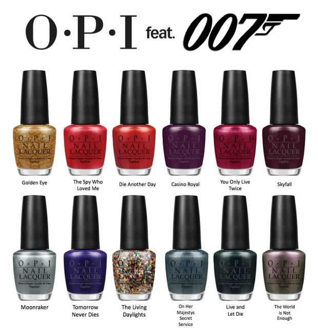 OPI sort une collection James Bond | OPI, Opi collections and Nails ...