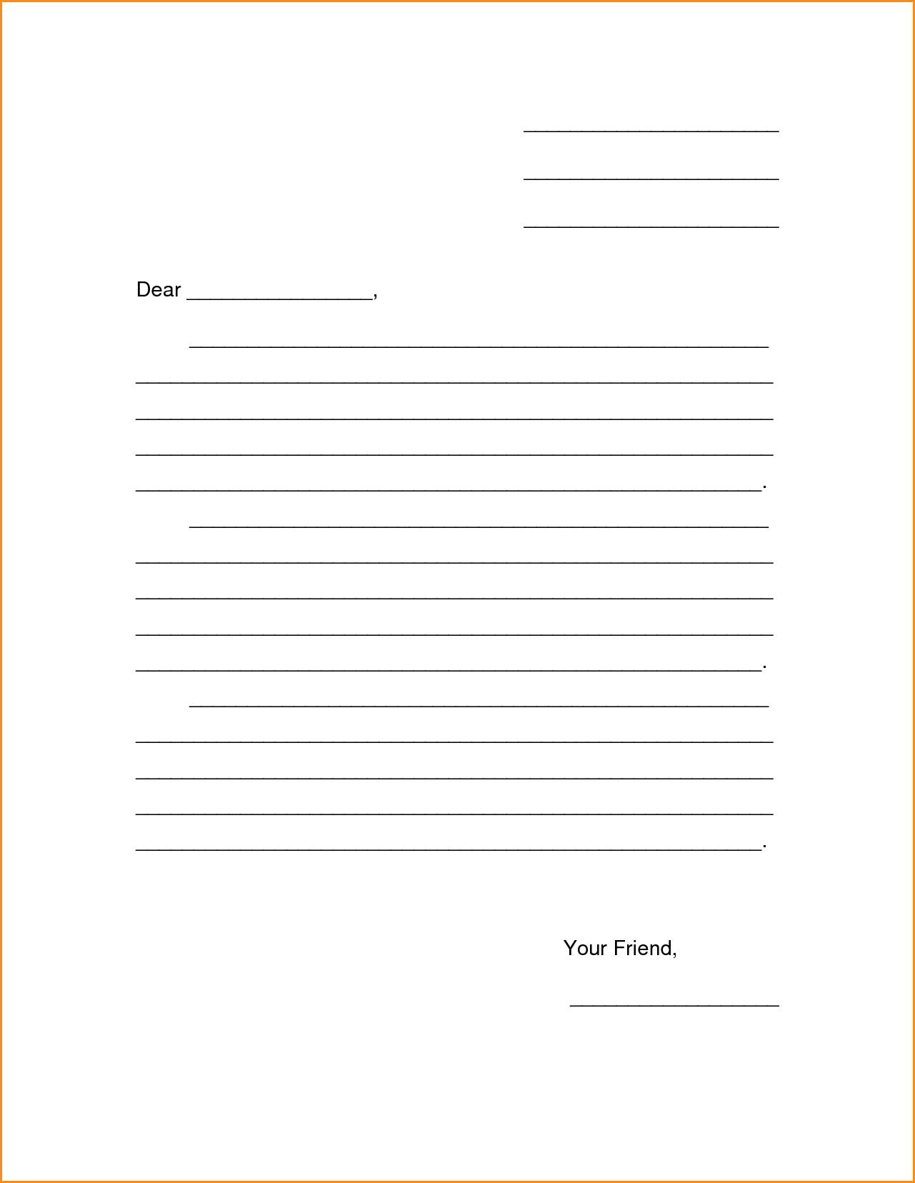 Letter Template For Kids  Education    Letter