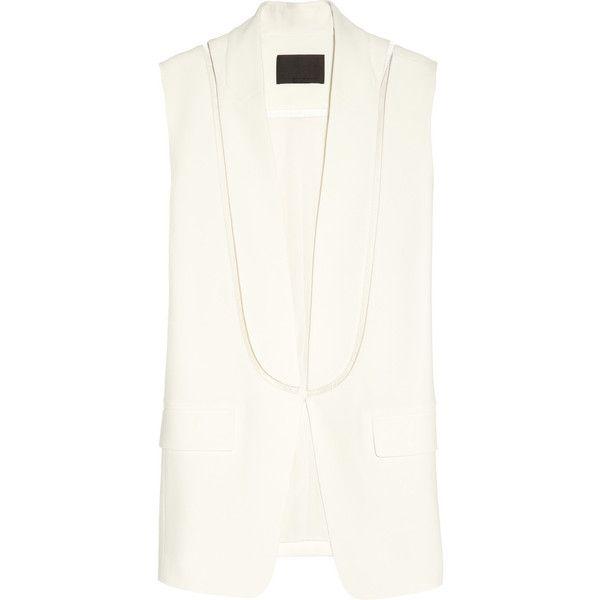 Alexander Wang Crepe and fishline vest ($595) via Polyvore