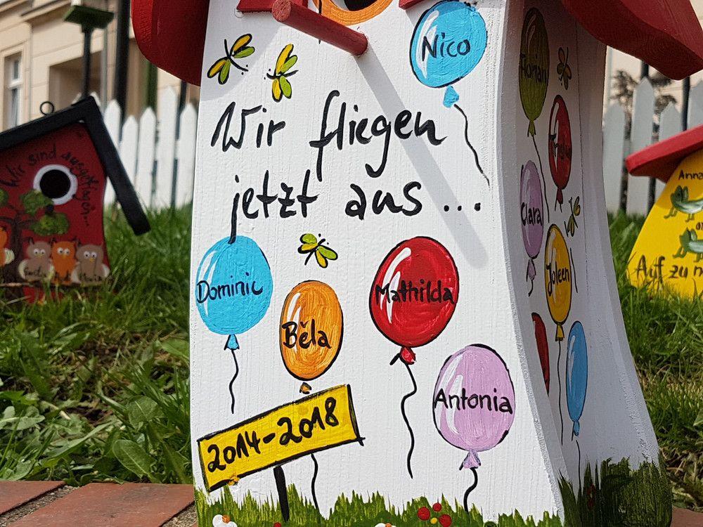 Vogelhaus Wir Sind Ausgeflogen Abschiedsgeschenk Kindergarten