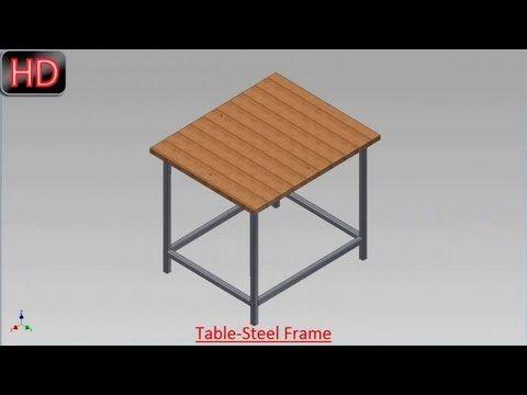 Table Steel Frame By Frame Generator Video Tutorial Autodesk Inventor Youtube Autodesk Inventor Inventor Autodesk