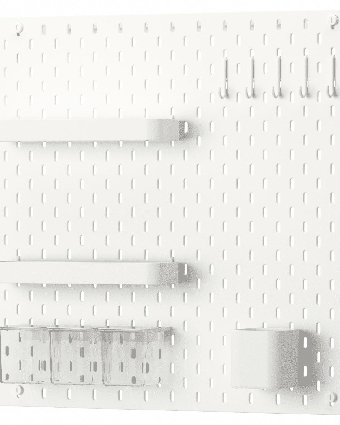 Ikea Skadis Pegboard Ideas Inspiration Apartment Therapy Ikeabathroom Small Bathroom Decor