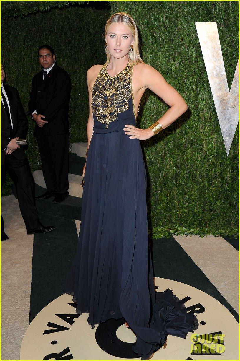 Maria Sharapova - Vanity Fair Oscars Party 2013,http://www.justjared.com