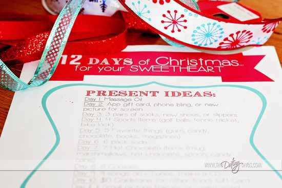 12 days of xmas gifts for husband