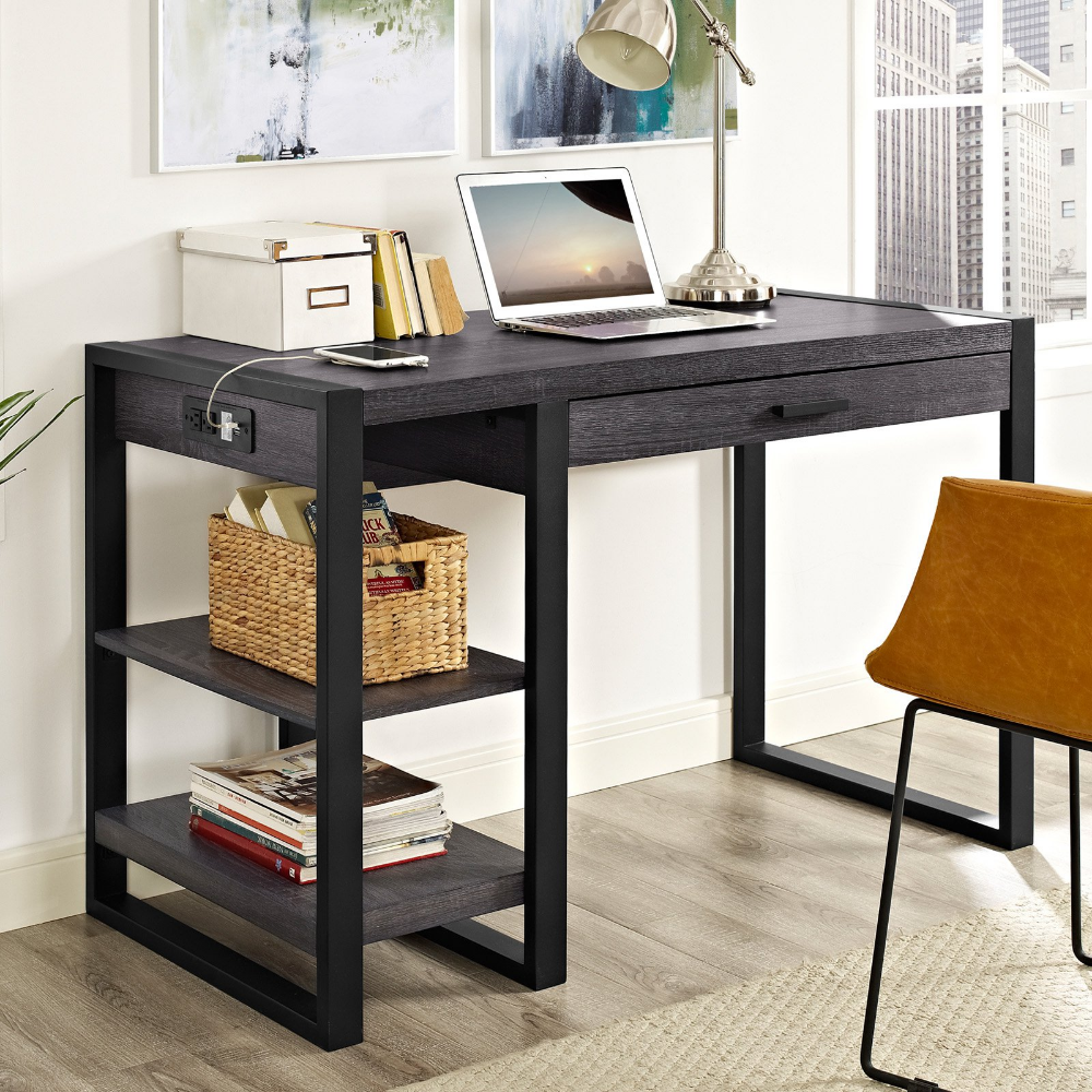 We Furniture Home Office 48 Wood Storage Computer Desk Walmart Com In 2020 Computer Desk Home Office Furniture Wood Computer Desk