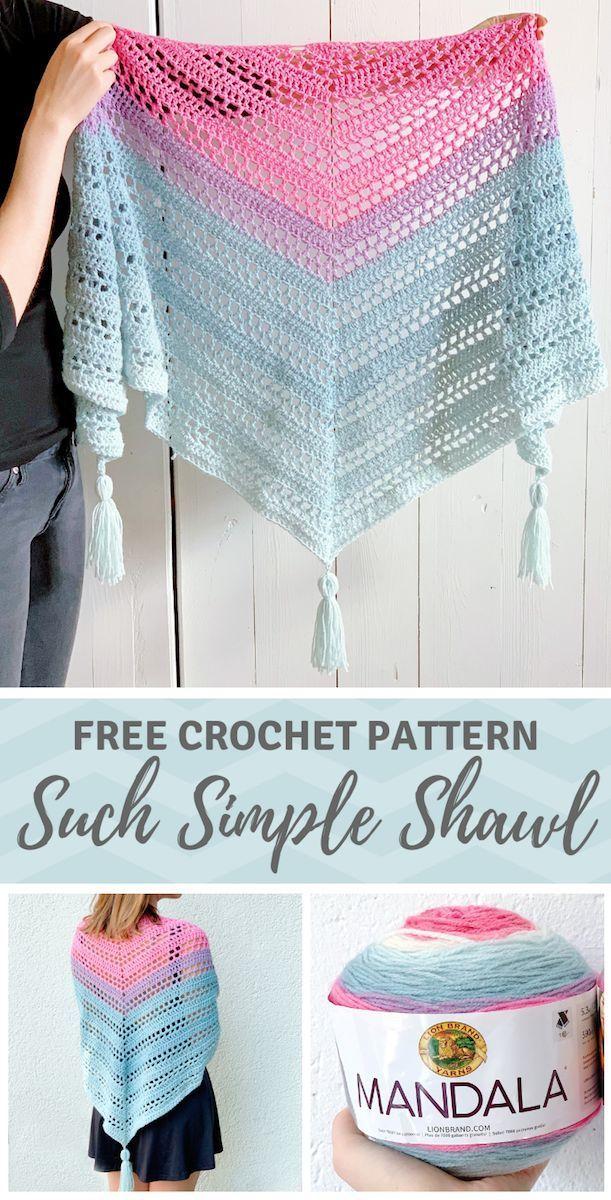 Mandala yarn scarf pattern - Such Simple Shawl by Wilmade (FREE)
