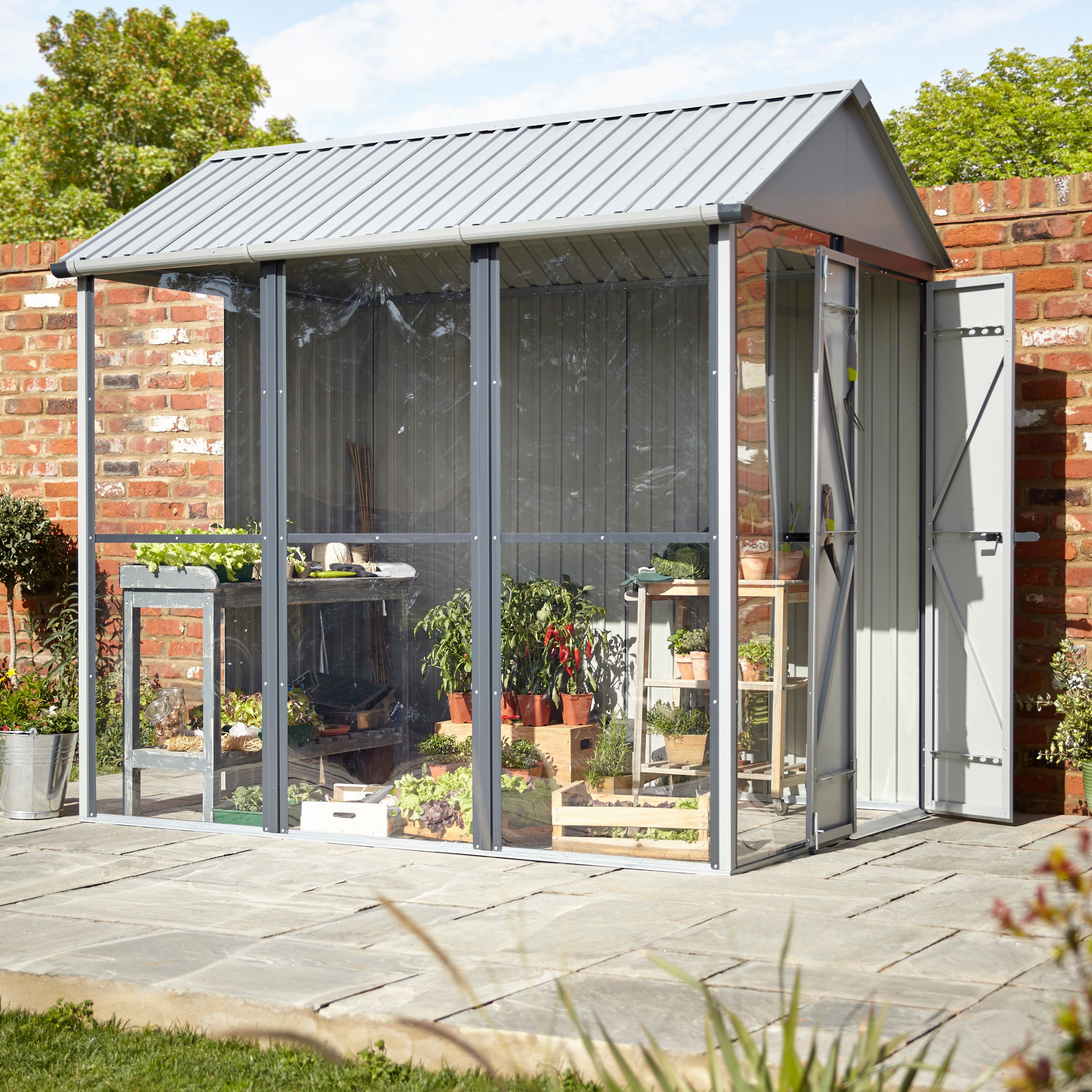 2.5X1.7 Indus Apex Greenhouse Shed   Bu0026Q For All Your Home And Garden