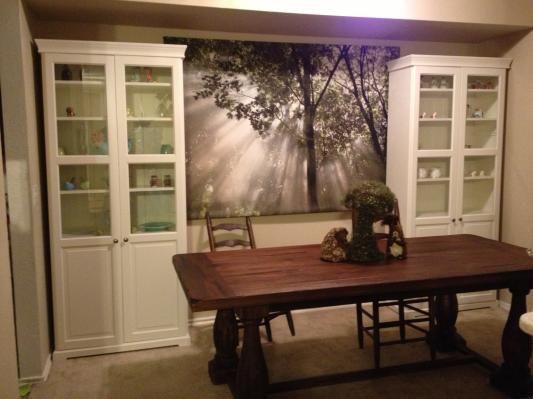Rustic Java Greyson Fixed Dining Table Interior Ideasworld