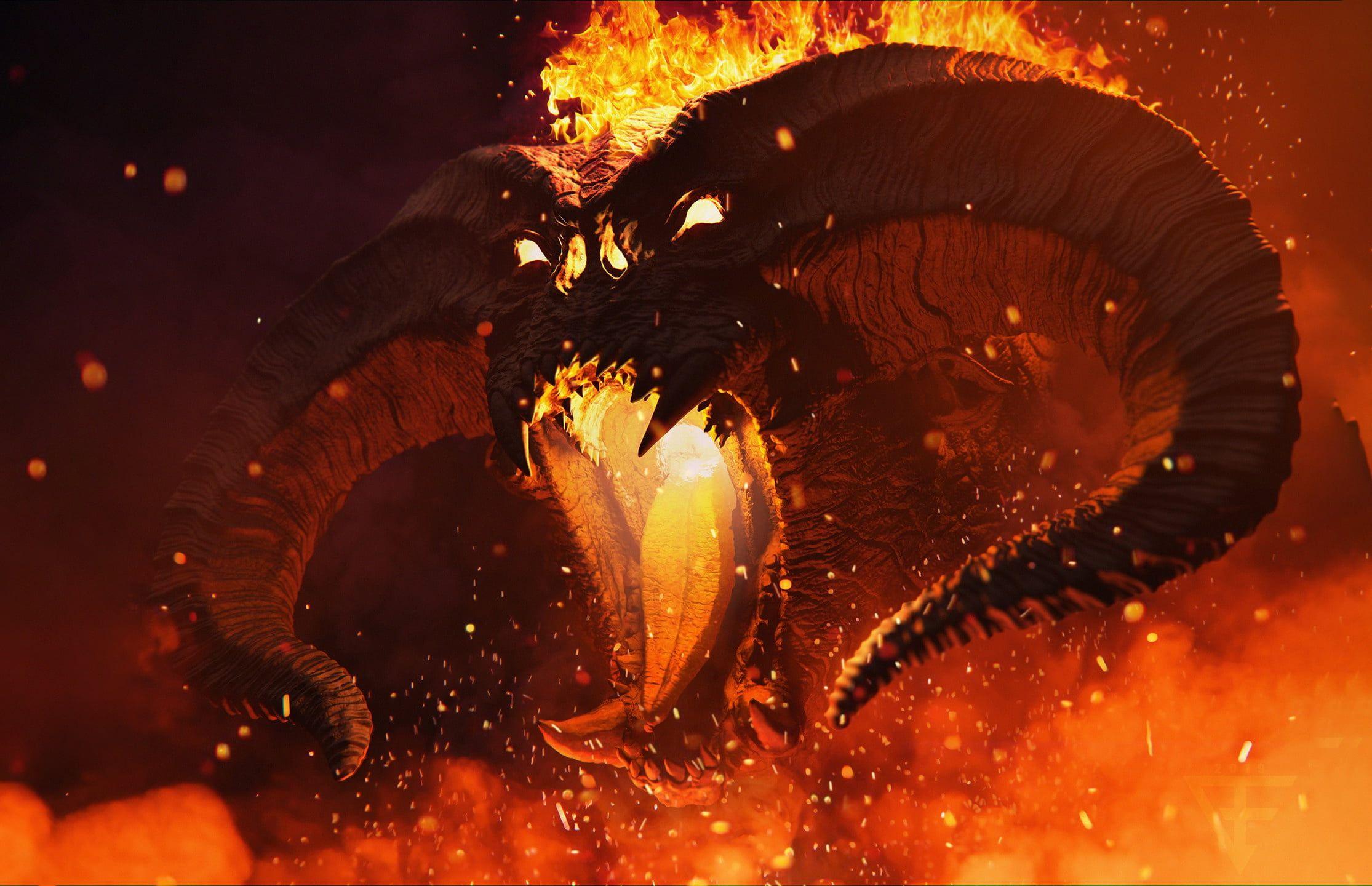 Balrog Demon The Lord Of The Rings Fantasy Art Creature 1080p Wallpaper Hdwallpaper Desktop In 2020 Lord Of The Rings Tattoo Balrog Lord Of The Rings