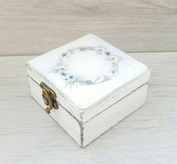 Personalized Wedding Ring Box Wedding Ring Holder Rustic Ring