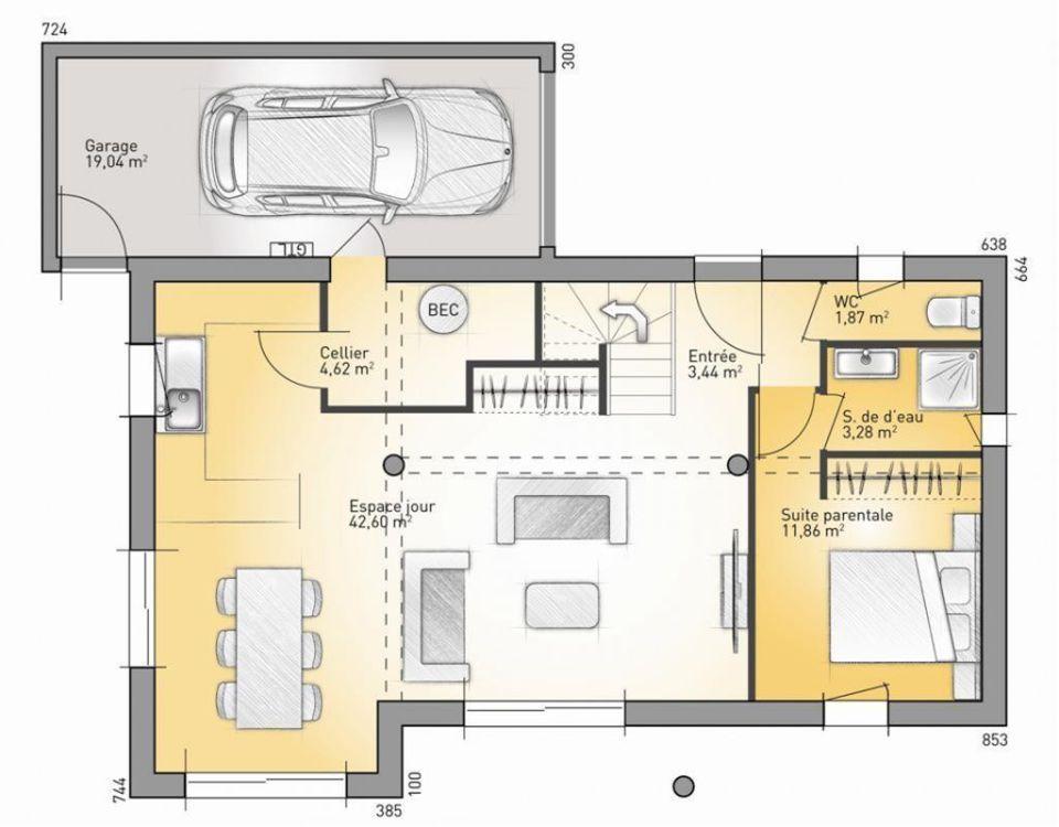 Plan maison neuve à construire - Maisons France Confort Eco-Concept - plan maison france confort