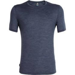 Photo of Icebreaker Merino Herren T-Shirt Cool-Lite Sphere Short Sleeve Crewe, Größe M in Midnight Navy Hthr,