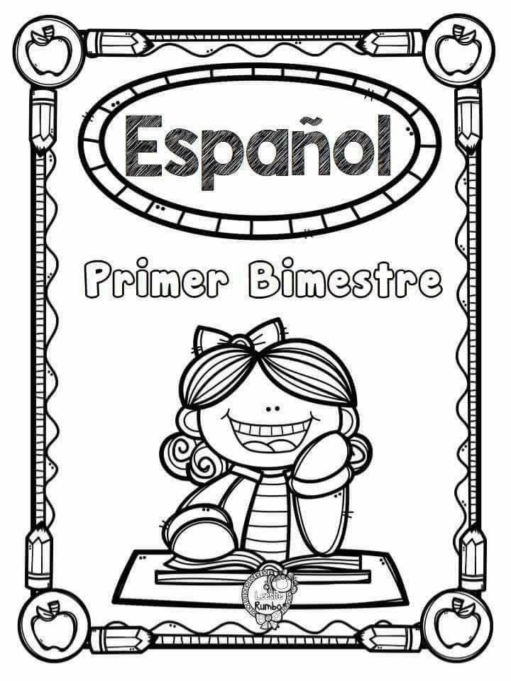 Portada Español Bloque I - Portada primer bimestre de Español ...