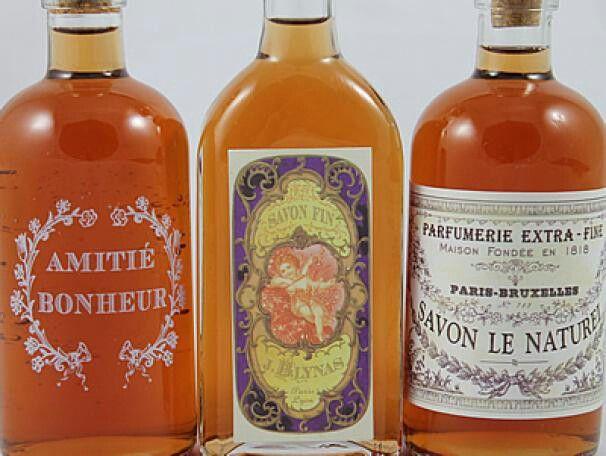 I love old bottles & vintage labels